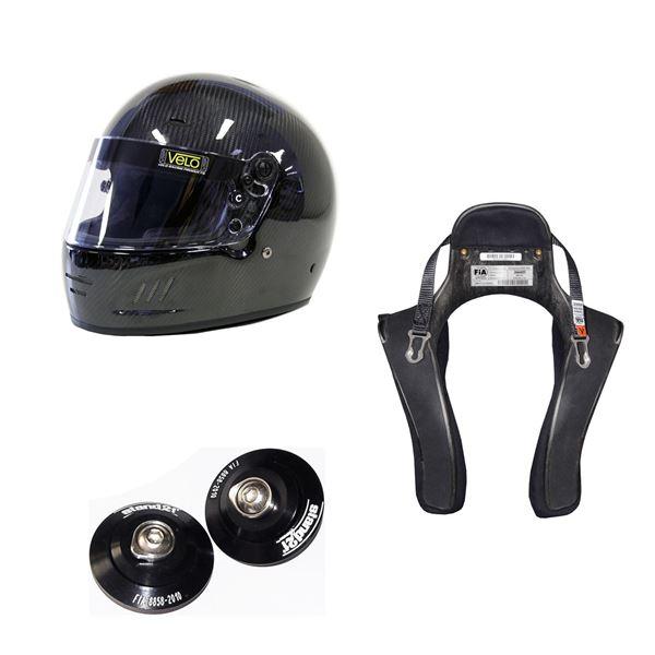 Picture of Velo Carbon Full Face Helmet HANS Package