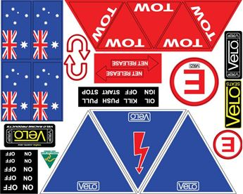 Picture of Velo Competition Sticker Sheet